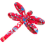 Dragonfly hair slide cherry cornflower