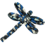 Dragonfly hair slide parts blue night - PPMC
