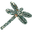 Pasador Libélula fleuri kaki - PPMC