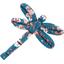 Barrette libellule fleuri nude ardoise - PPMC