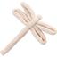 Dragonfly hair slide  glitter linen - PPMC