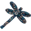 Dragonfly hair slide marine daisy - PPMC
