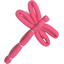 Dragonfly hair slide rose pailleté - PPMC