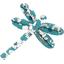 Dragonfly hair slide celadon violette - PPMC