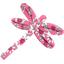 Dragonfly hair slide pink violette - PPMC