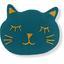 Barrette miaou bleu vert - PPMC