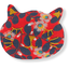 Barrette miaou feuillage vermillon - PPMC