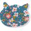 Barrette miaou fleuri nude ardoise - PPMC