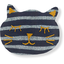 Meow hair slide striped silver dark blue - PPMC