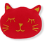 Barrette miaou rouge tangerine - PPMC
