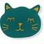 Barrette miaou  vert émeraude - PPMC