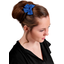 Bow tie hair slide navy blue