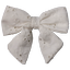 Bow tie hair slide english embroidery - PPMC