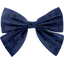 Bow tie hair slide blue english embroidery - PPMC