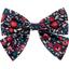 Bow tie hair slide camelias rubis - PPMC