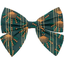 Barrette noeud papillon eventail or vert - PPMC