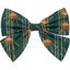 Barrette noeud papillon eventail or vert