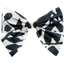 Bow tie hair slide chinese ink foliage  - PPMC