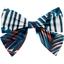 Bow tie hair slide feuillage marine - PPMC
