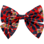Bow tie hair slide vermilion foliage