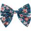 Bow tie hair slide fleuri nude ardoise - PPMC