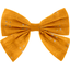 Bow tie hair slide gaze dentelle ocre - PPMC