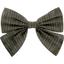 Bow tie hair slide khaki lurex gauze - PPMC