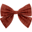 Barrette noeud papillon gaze lurex terracotta - PPMC