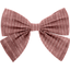 Bow tie hair slide dusty pink lurex gauze