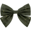Bow tie hair slide gaze pois or kaki - PPMC