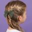Bow tie hair slide gaze pois or kaki