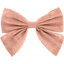 Barrette noeud papillon gaze rose - PPMC