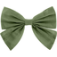 Bow tie hair slide gauze sage green - PPMC