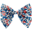 Bow tie hair slide flowered london - PPMC