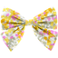 Bow tie hair slide mimosa jaune rose - PPMC
