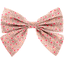 Bow tie hair slide mini pink flower - PPMC
