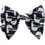 Bow tie hair slide black-headed gulls - PPMC