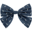 Bow tie hair slide silver straw jeans - PPMC