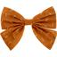 Barrette noeud papillon paille dorée caramel - PPMC