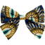 Bow tie hair slide plumes de paon - PPMC
