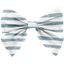 Bow tie hair slide striped blue gray glitter - PPMC