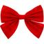 Barrette noeud papillon rouge tangerine - PPMC