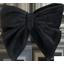 Barrette noeud papillon  velours noir - PPMC