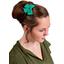 Pasador lazo mariposa verde de laurel