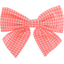 Bow tie hair slide vichy peps - PPMC