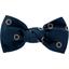 Small bow hair slide bulle bronze marine - PPMC