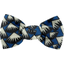 Small bow hair slide parts blue night