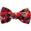 Small bow hair slide vermilion foliage - PPMC