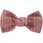 Pasador pequeño lazo gasa lurex rosa polvoriento - PPMC