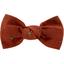 Small bow hair slide gauze terra cotta - PPMC